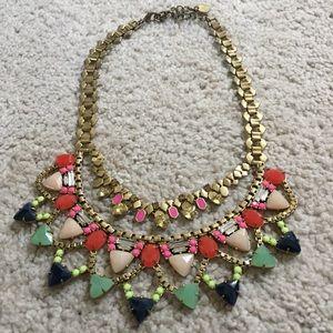 Stella & Dot multi color bib necklace